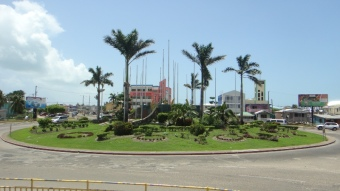 Turning circle Belize City