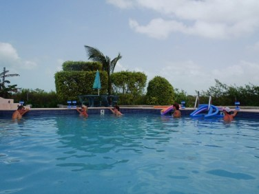 Aquafit class San Pedro Fitness Club Ambergris Caye Belize