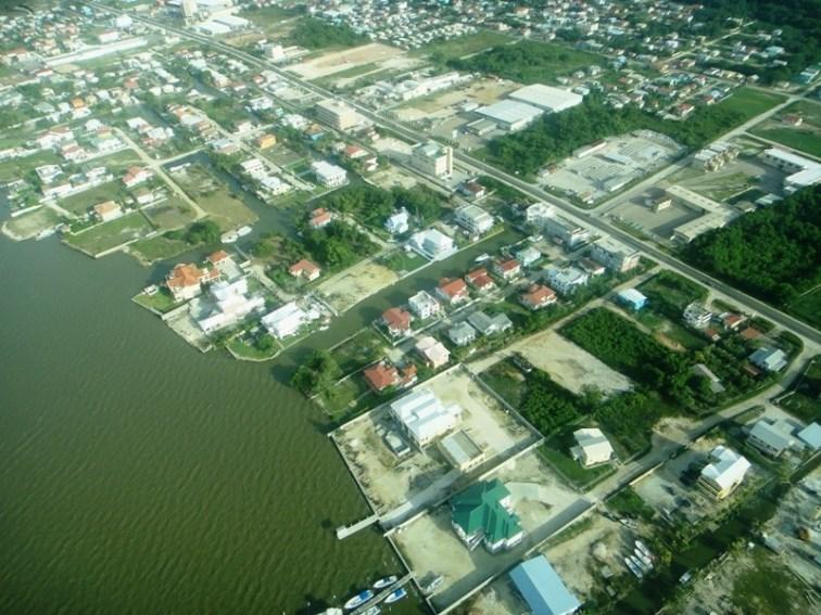Belize areal shot