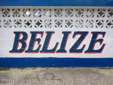Hand painted sign Belize city