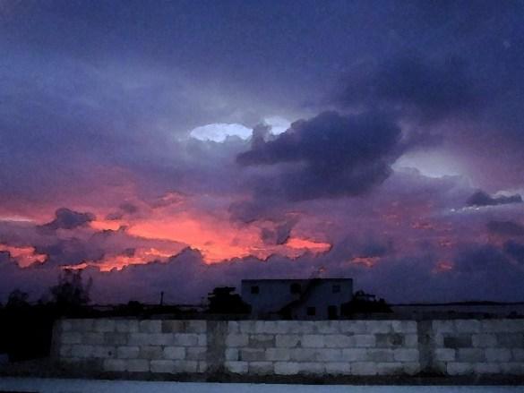 sunset san pedro belize picture