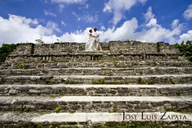 belize maya ruin wedding 2012