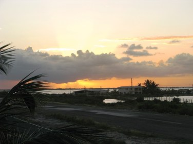 san pedro belize sunset picture