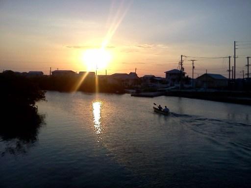 san pedro belize sunset image