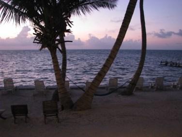 san pedro belize sunrise picture