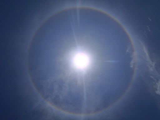 Rainbow ring around the sun belize