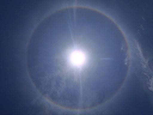 Rainbow ring around the sun belize