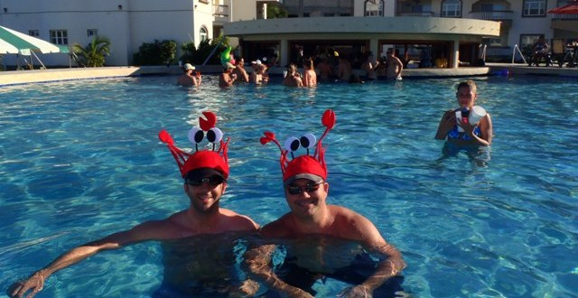 Lobstermainia pool party at Cowboy Doug's Grill