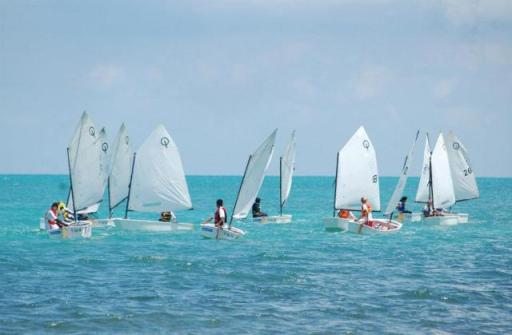 st georges caye belize  youth sailing optimist regatta