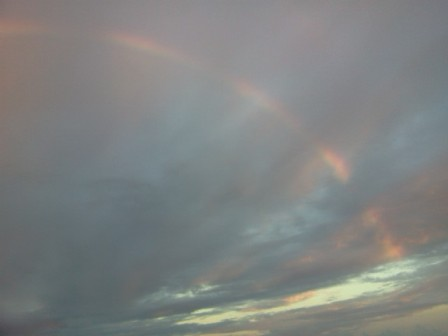 rainbow pictures from north ambergris caye