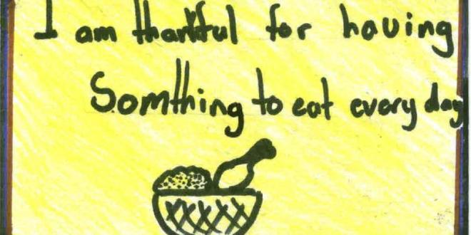 Thanksgiving Messages from Holy Cross School