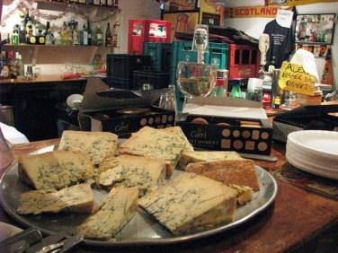 stilton cheese and crachers