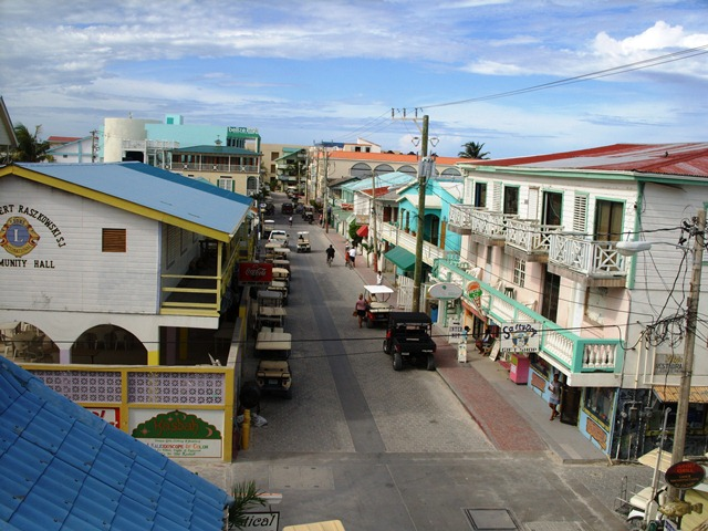 Aerial view of san pero town