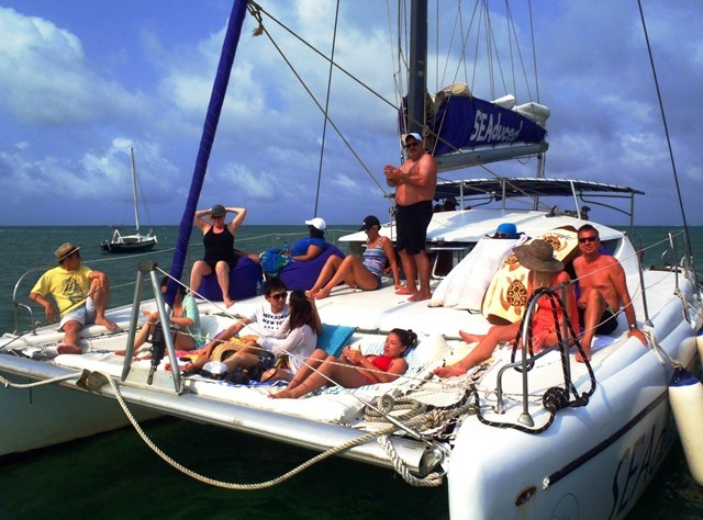 setting sail from caye caulker to san pedro town