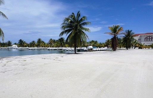 Marina area on Caye Chapel