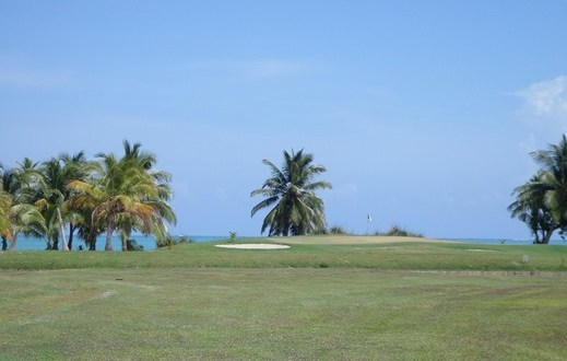 Private island golf course