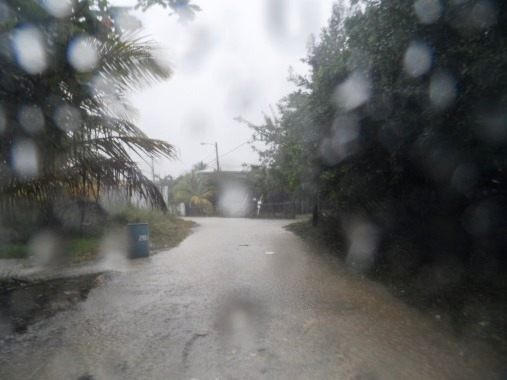 Belize weather brings us lots of rain.