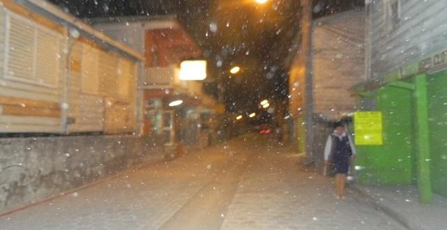 It's Snowing in San Pedro