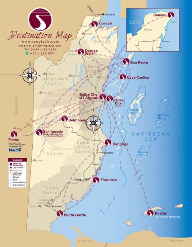tropic air route map