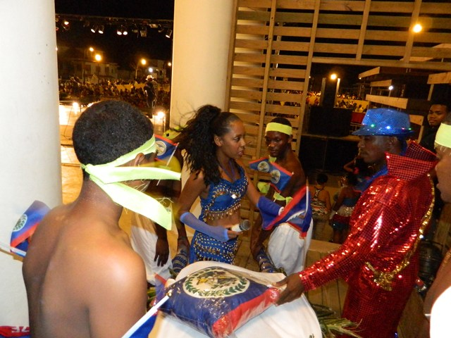 talented belizean artists at the 2014 belize national song competition memorial park belize city