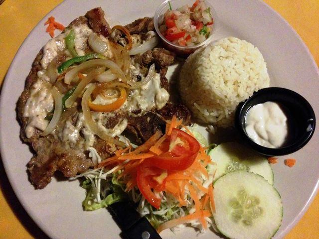 belize beef at el patio restaurant