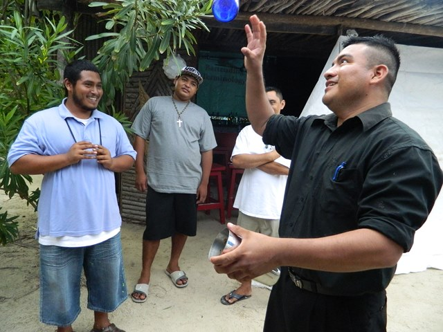 fermin cho'c instructor at the introduction to bartending course from the belize institute of mixology