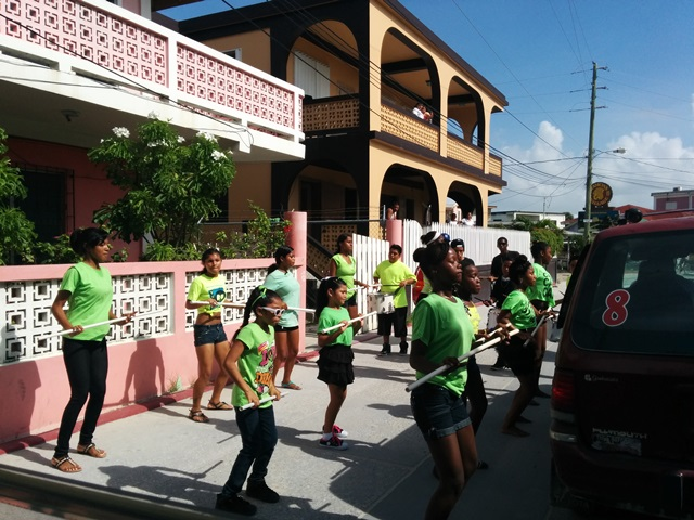 san pedro high school marching band ambergris caye belize