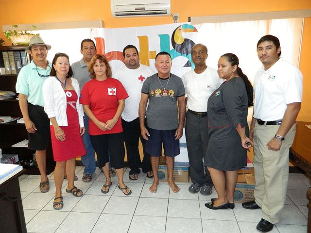 Belize Tourism Board and San Pedro Belize Red Cross
