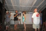 Ecologic Divers, plays Minute to Win it at Roadkill Bar Belize