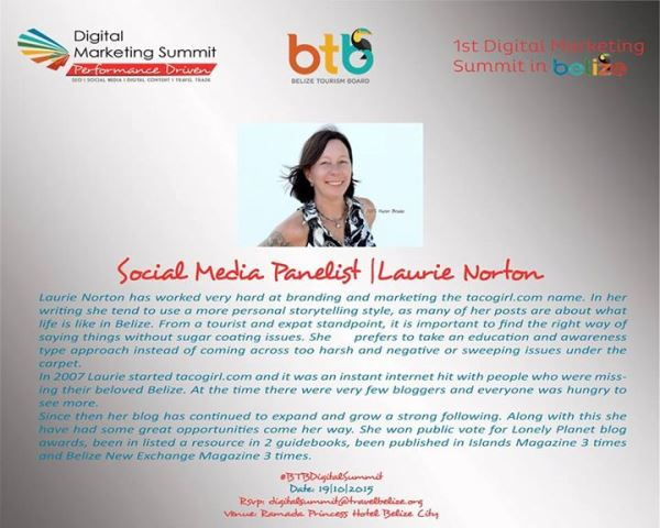 First Annual Belize Tourism Board Digital Marketing Summitt 2015