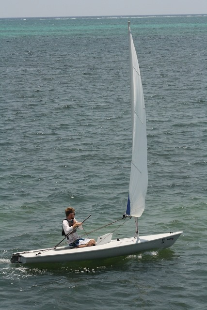 Trainee with Belize Sailing School Ted Weaver