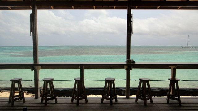 View at Pizza and Gelato Italiano Restaurant Caye Caulker