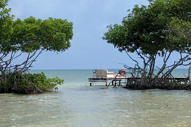 View while walking to Caye Caulker Airport