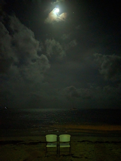 San Pedro Belize at Night