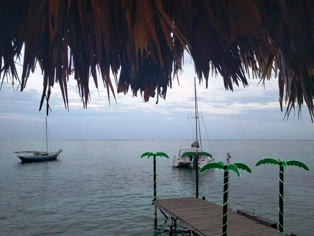 Upstairs deck at Palapa Bar Belize