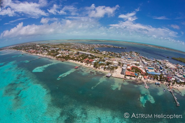 Ambergris Caye Aerial by Astrum Helicopters Hurricane Earl