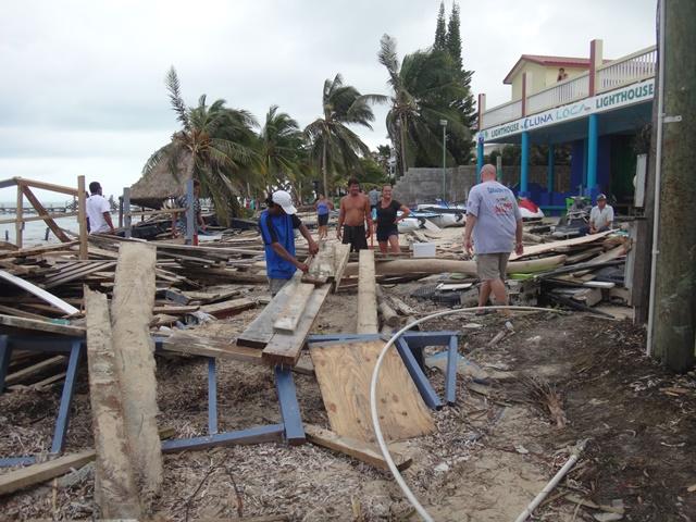 Devastation after Hurricane Earl