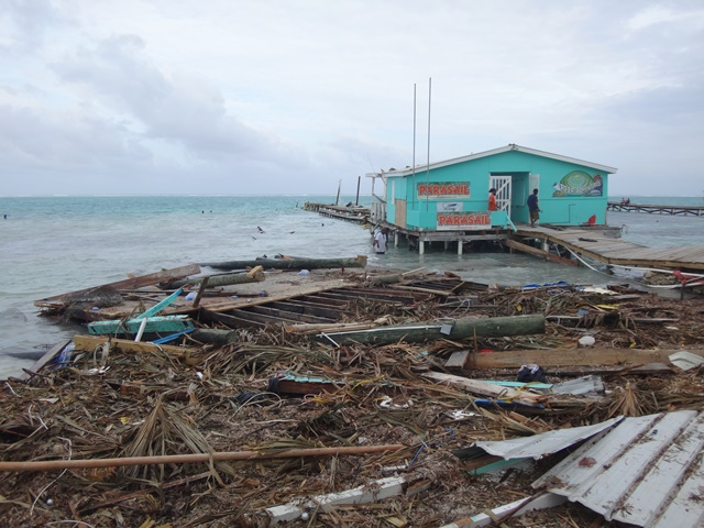 Palapa Bar and Grill was leveled afterHurricane Earl