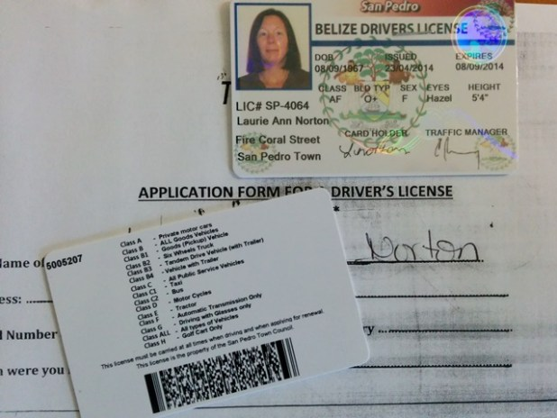 Belize Drivers License