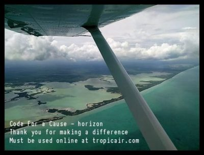 tacogirl Tropic Air Flight Code For a Cause