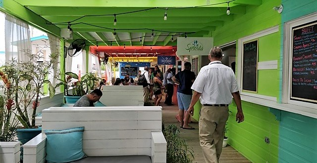 Talking Sunshine at Poco Locos Food Court and Growing Solar Power in Belize Schools