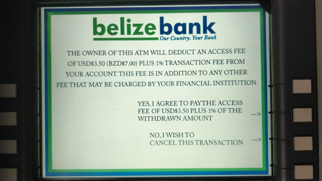 Belize Banking and ATM Fees - Tacogirl blog, Est  in 2007