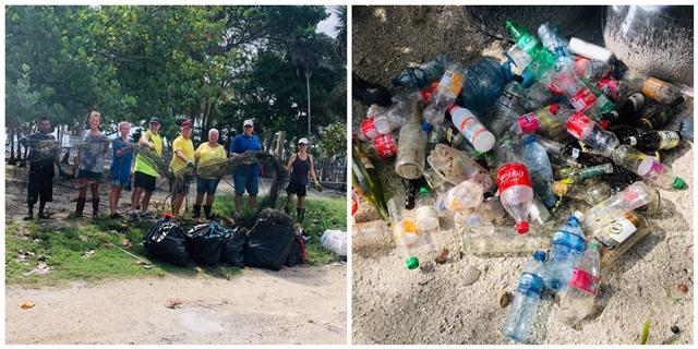 Trash Pick up Ambergris Caye
