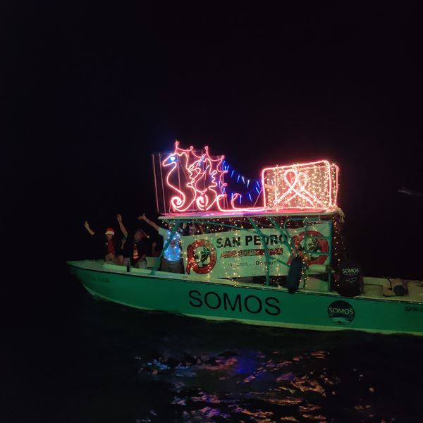 Lighted Boat Parade in Belize