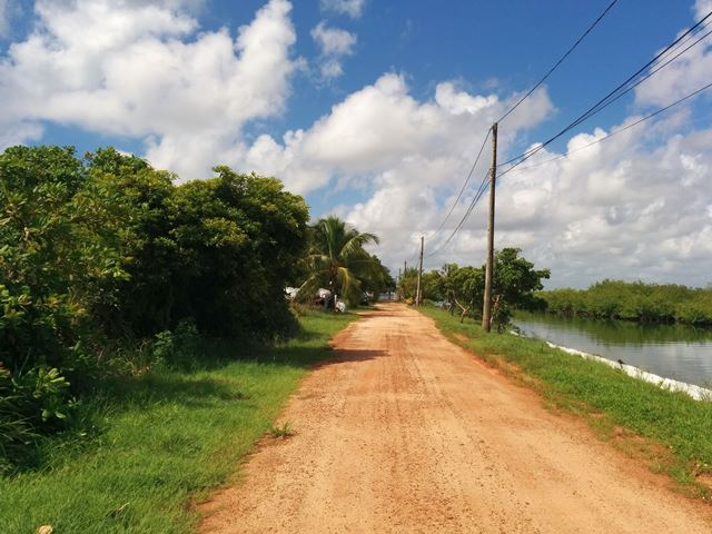 Driving from Placencia Airport to hotel