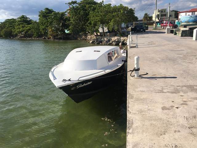 Exodus Water Taxi at Corozal dock