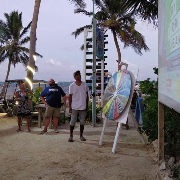 wheel of fortune game night at nauti crab beach bar san pedro