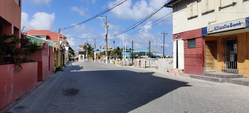 empty streets belize covid