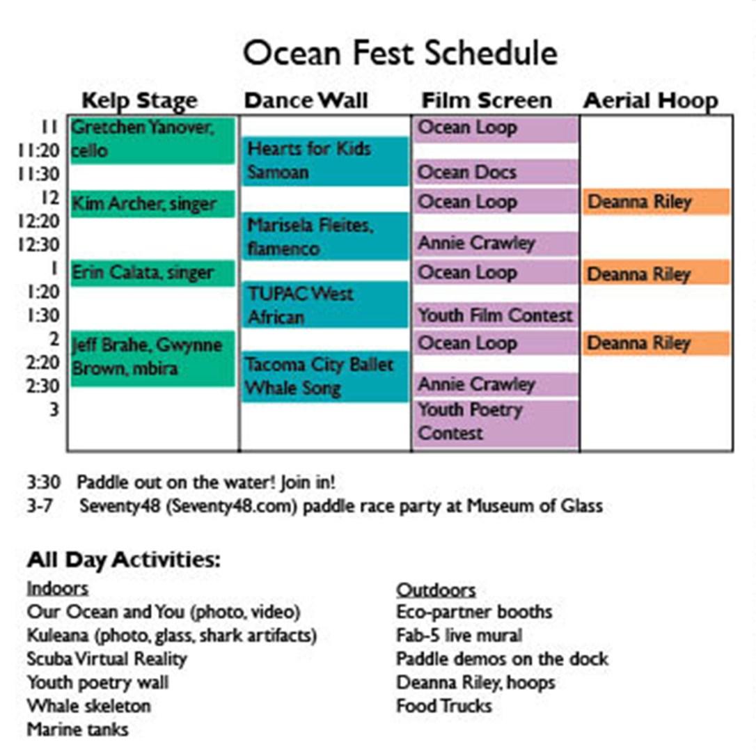 Ocean Fest schedule