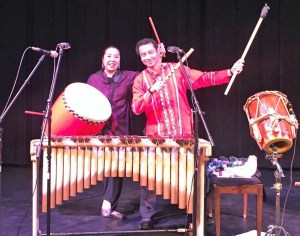 Miho and Diego percussion